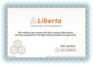 Liberta Cages Certificate
