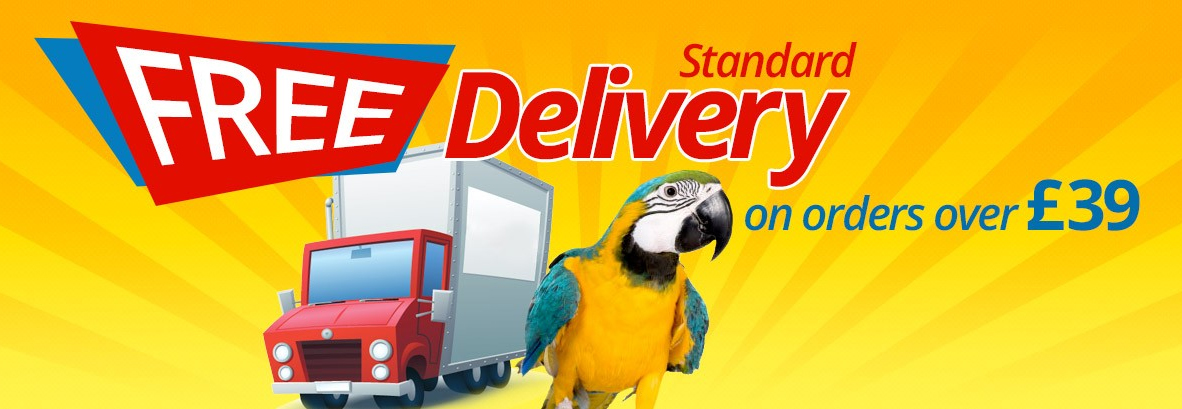 Free Delivery from Parrot Essentials