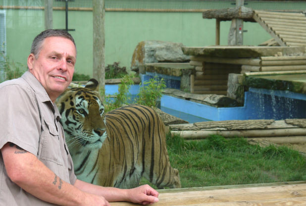 Steve Nichols at the newly named Lincolnshire Wildlife Park